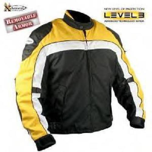 $100 Black&Yellow Motorcycle leather Jacket sz MED