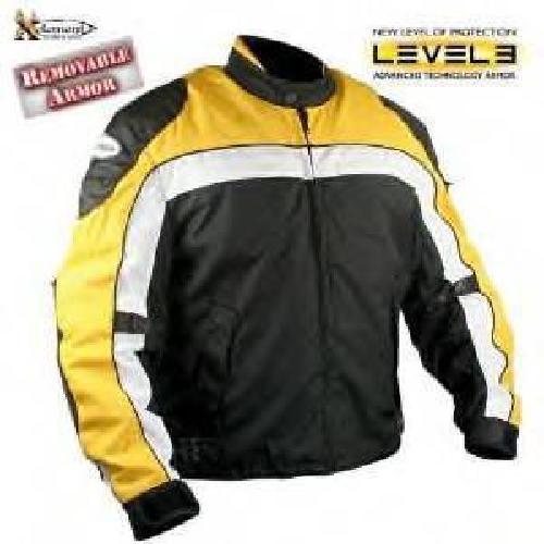 $100 Black&Yellow Motorcycle leather Jacket sz MED