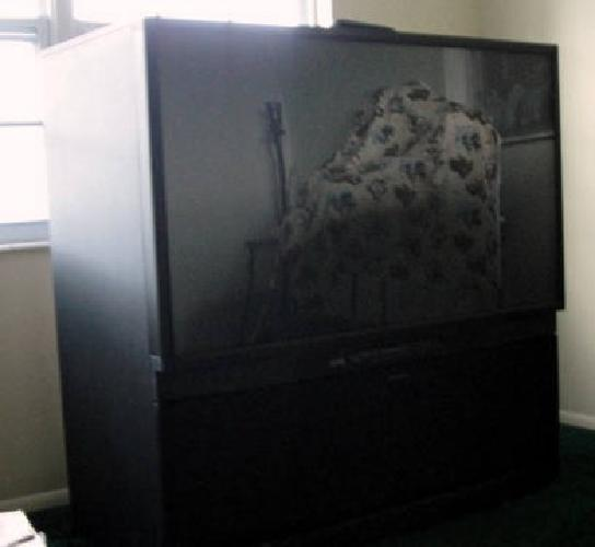 60 inch mitsubishi projection tv pictures to pin on for Floor model tv