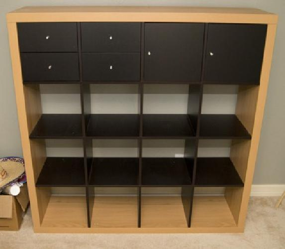 100 ikea expedit 4x4 bookcase with drawer inserts for for Ikea bookcase with drawers