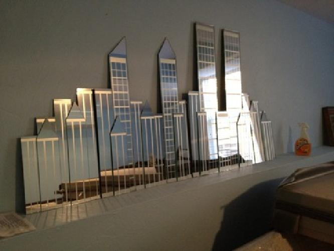 100 Ny City Skyline W Twin Towers Mirror For Sale In