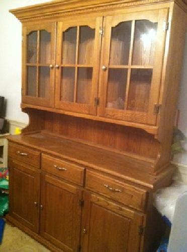 100 Obo Honey Oak China Cabinet Hutch