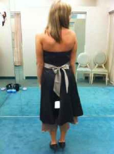 $100 OBO Strapless Satin Dress w/Sweetheart Neckline - For any occassion