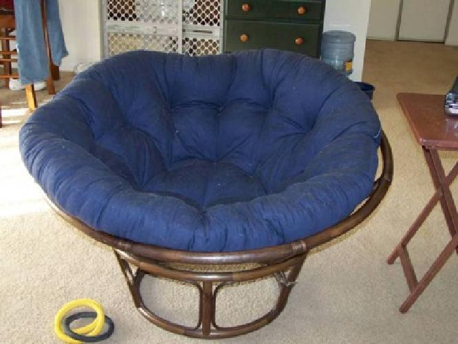 100 Ratan Papasan Chair And Cushion For Sale In Perkasie