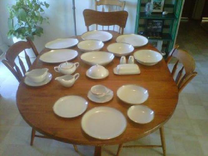 $100 Royalton China--Translucent Porcelain--12 settings + serving dishes