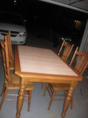 100 Solid Oak Kitchen Table With Tile Top And 4 Chairs For Sale In Boiling Springs South