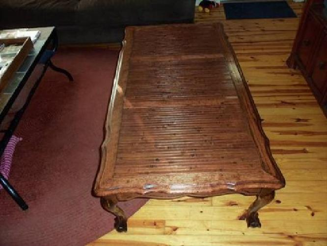 100 Solid Wood Coffee Table With Claw Feet For Sale In Petal Mississippi Classified
