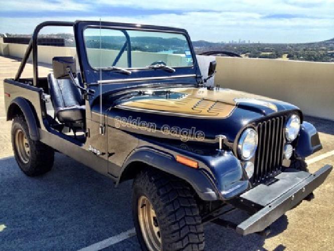 10 000 1976 jeep cj7 golden eagle stunner for sale in austin texas classified. Black Bedroom Furniture Sets. Home Design Ideas