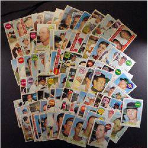 $10 100 different 1969 TOPPS baseball cards