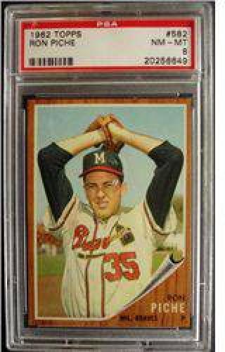 $10 1962 Topps #582 Ron Piche PSA 8 NM-MT