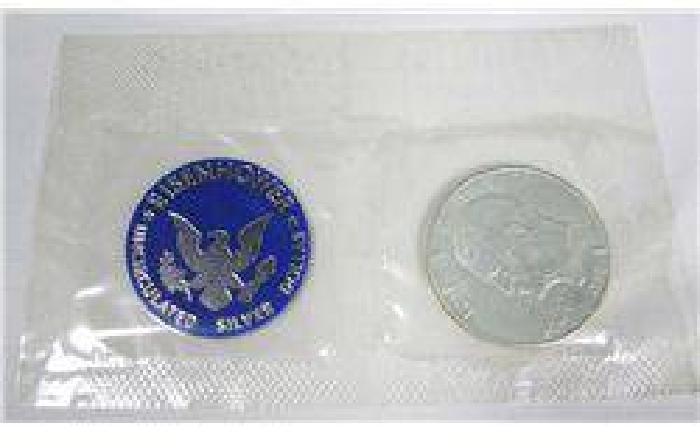 $10 1971 Blue Pack Eisenhower Uncirculated Silver Dollar