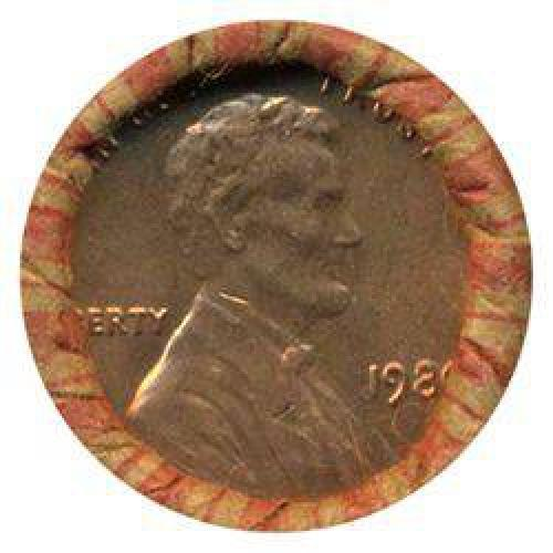 $10 1980 Linc 1c BU Scarce UnOpened Bank Roll 50 GEMS (COI-005521)