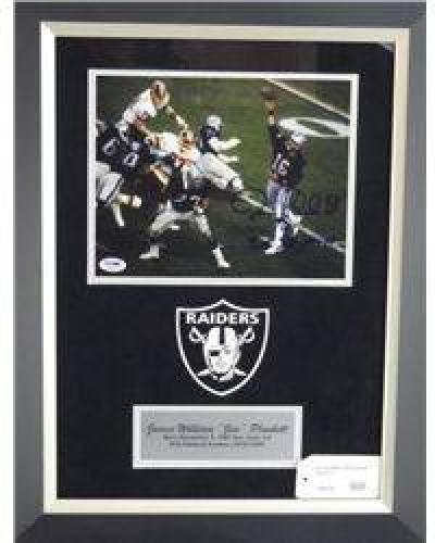 $10 Signed-Jim Plunkett Raiders Custom w/COA