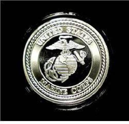 $10 United States Marines One Ounce .999 Silver Art Round
