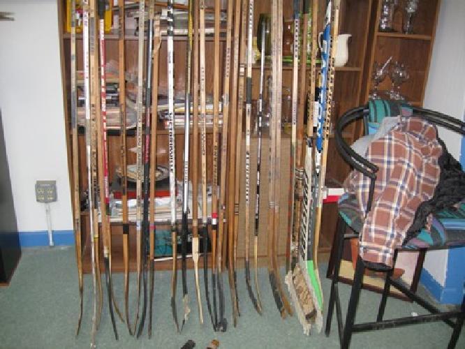 $10 Vintage Wooden Hockey Sticks ~ Assorted Brands