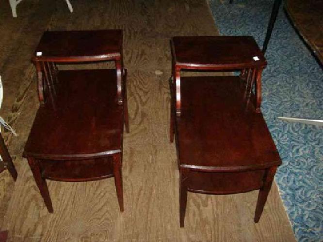Good $110 2 Mahogany Nightstand End Table Mersman Vintage Mid Century Modern Sid  (Trolley