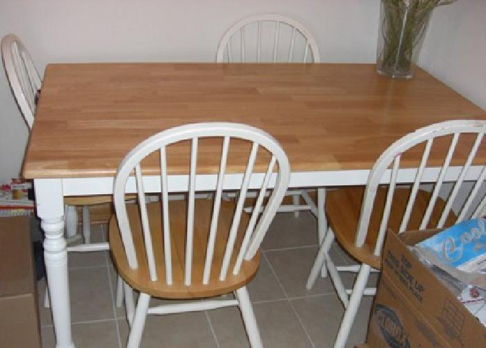 115 Light oakwhite Kitchen table 4 chairs for sale in