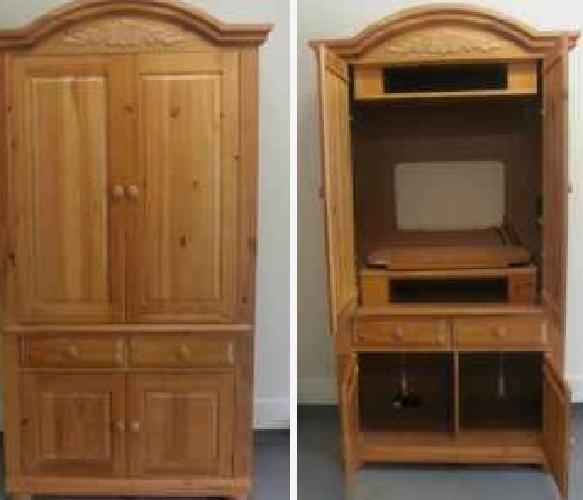Superbe $120 Broyhill Fontana TV Entertainment Center Armoire Cabinet