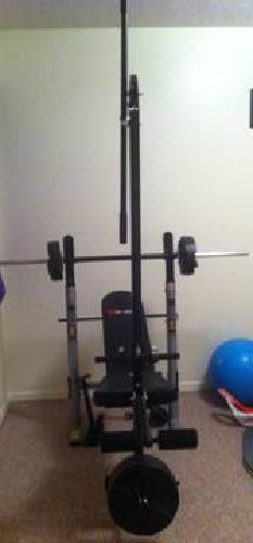 120Sportek KWB350 Power Folding Weight Bench with 100 lbs for sale in ...