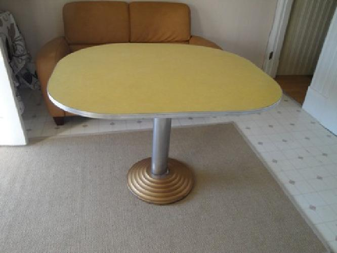 120 vintage oval yellow kitchen table for sale in san francisco