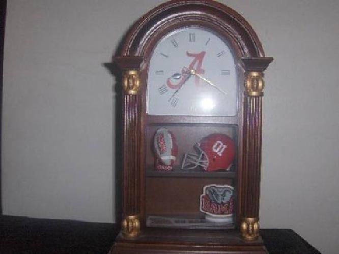 $125 Alabama Football Clock with Lighted Display Case.