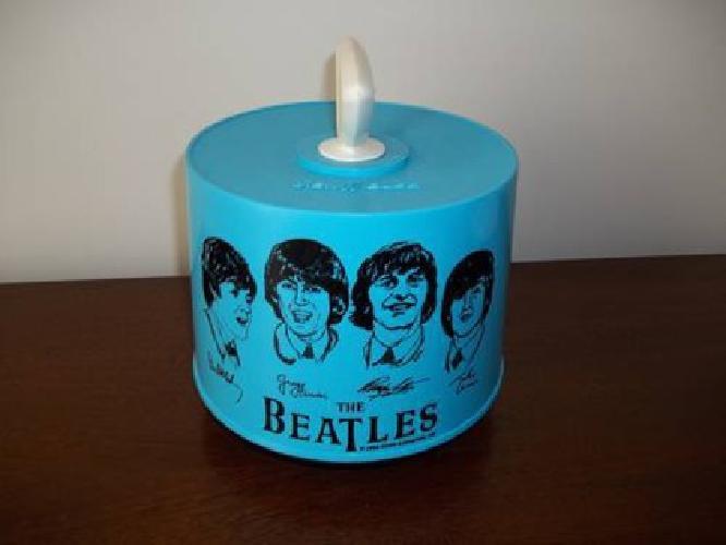 $125 BEATLES FANS ** Vintage Rare Baby Blue Disk-Go-Case