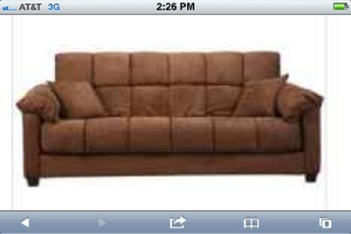 $125 Couch - year old, rarely used, converts to futon