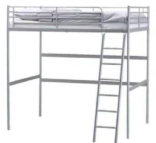 125 Ikea Metal Frame Full Size Loft Bed For Sale In Staten Island