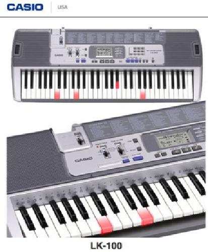 $125 OBO Casio LK100 Lighted 61-Key Keyboard with Stand