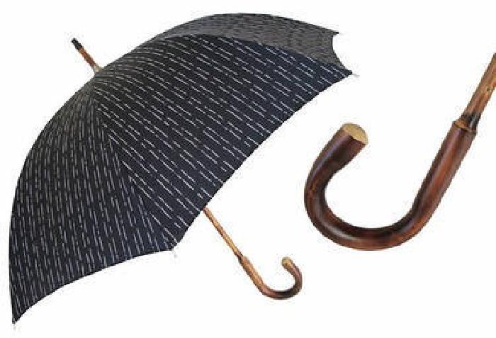 $125 Pasotti Ombrelli - Gentlemen's Umbrella - Black NEW!