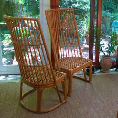 125 Tropical Bamboo High Back Chairs For Sale In Decatur