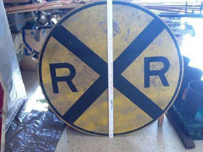 $125 Vintage Railroad Crossing Sign for sale in Frankfort