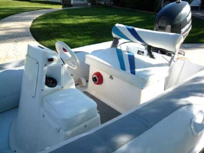 12 39 rigid bottom inflatable w center console 25hp yamaha for Yamaha outboard service san diego