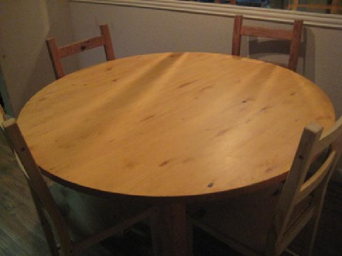 130 ikea dining table round expandable for sale in austin texas classified - Expandable dining table ikea ...