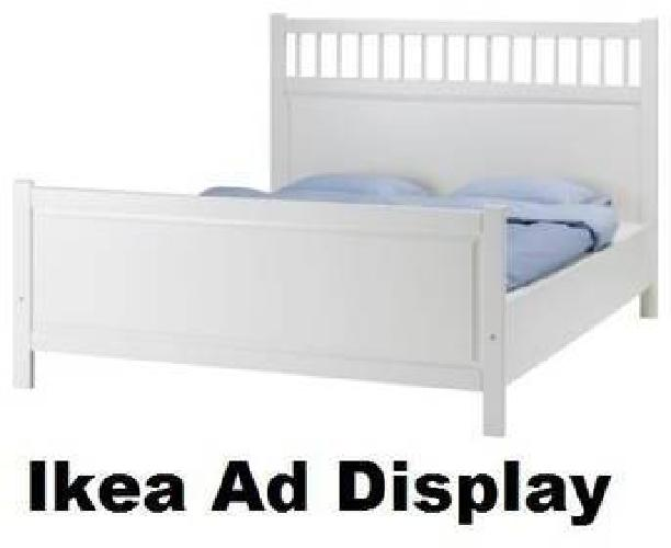 130 ikea queen bed headboard footboard side boards slats white for sale in irving. Black Bedroom Furniture Sets. Home Design Ideas