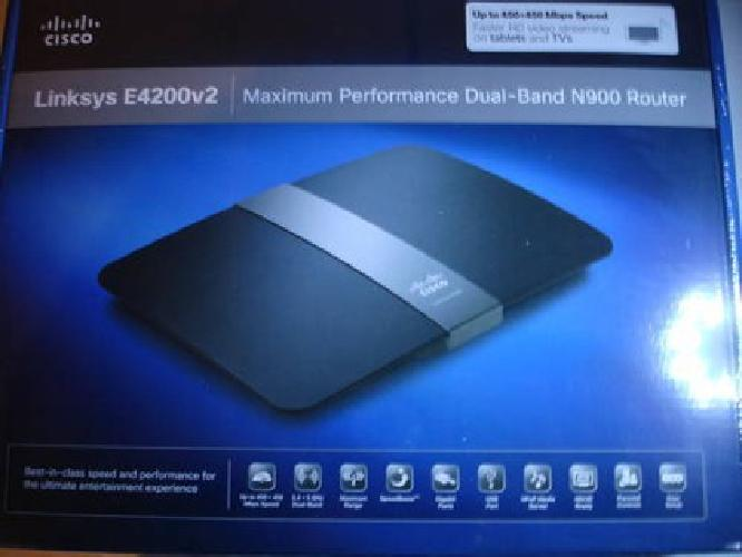 $135 Linksys Cisco E4200v2 EA4200 v2Daul Band N Router New In Box