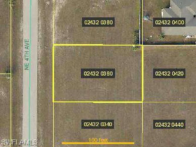 1409 NE 4th PL Cape Coral, Single family home building lot