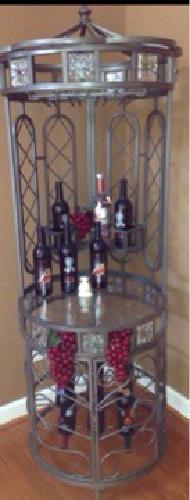 $140 Rod Iron Wine Rack - High End