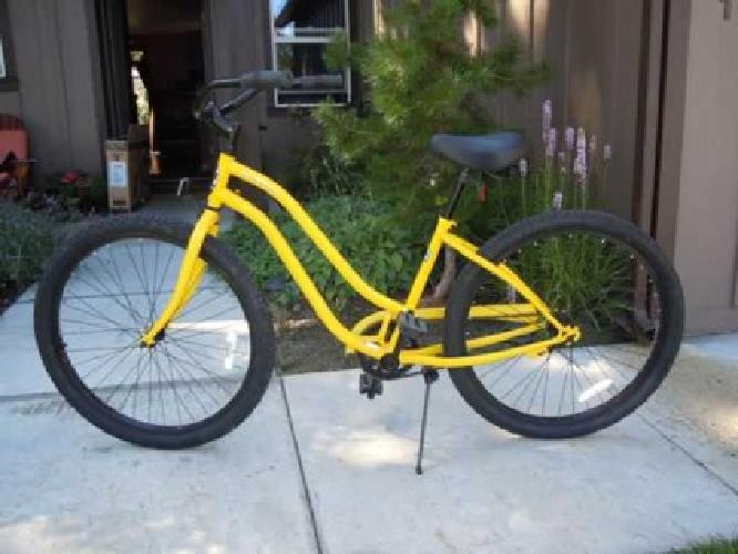 145 New Phat Cycles Sea Wind Yellow Beach Cruiser Bike 26