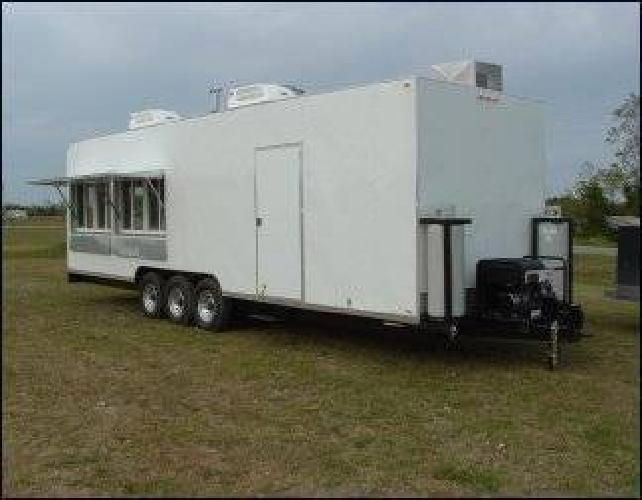 14 625 FULLY Euipped 8x30 Concession Mobile Kitchen Trailer For Sale