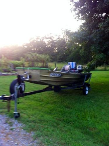 14 FT Jon Boat, Motor, & Trailer