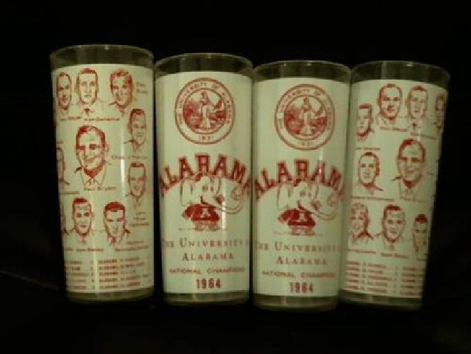 $150 Alabama Football 1964 National Champions Collector Glasses.
