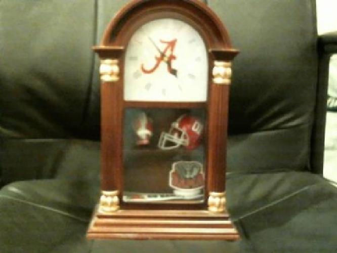 $150 Alabama Football Clock with Lighted Display Case.