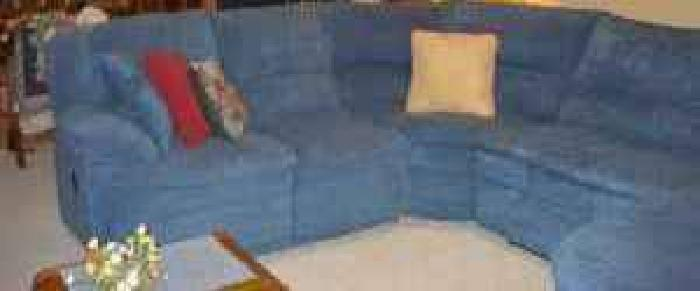 $150 blue sectional couch