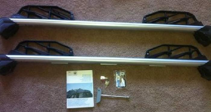 $150 BMW Roof Crossbars with Ski Rack and Winter Mats