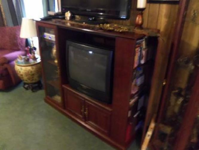$150 Cherry Intertainment Center With 27''TV