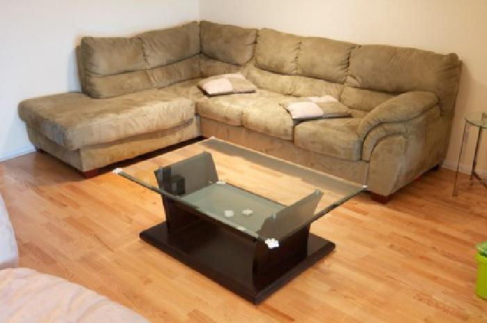 150 fabric couch sofa with ottoman for sale for sale in chicago illinois classified. Black Bedroom Furniture Sets. Home Design Ideas