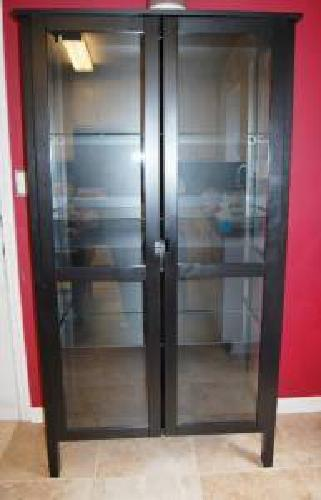 150 Ikea Glass China Cabinet Dining Room Furniture Hutch For Sale In Mcdonough Georgia