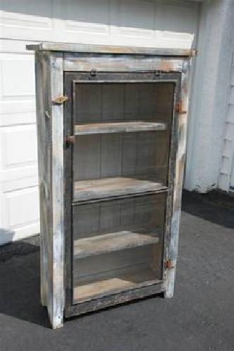 $150 Jelly Cupboard Pie Safe Storage Cabinet ~ Repro ~ Primitive Rustic