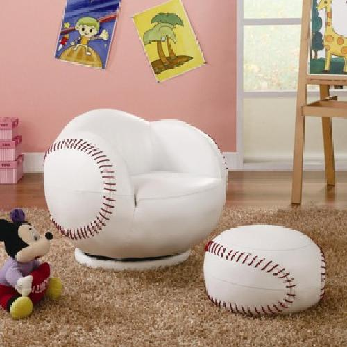 $150 Kids Baseball Sports Chair & Ottoman